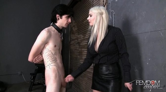 Lexi Sindel in  Femdomempire Extensive slave training -Full Movie October 13, 2012  Blonde, Handjobs