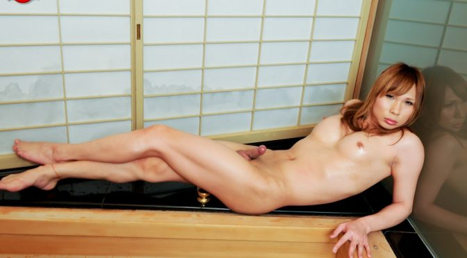 Yuu Hoshibana in  Tgirljapan Yuu Hoshibana Spreads Wide May 31, 2013  Transsexual