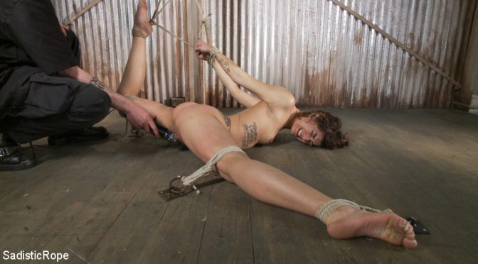 Bianca Stone in  Sadisticrope Bendy Newcomer Taken to the Edge June 10, 2013  Squirting, Vaginal Penetration