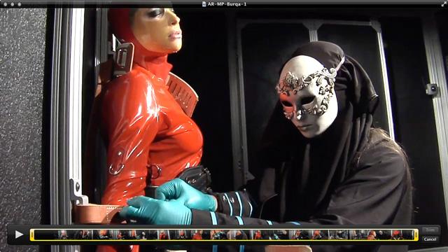 Anna Rose in  Alterpic.com Burqa – 1/2 May 20, 2019  Fetish, Latex Mask