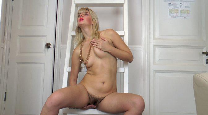 Sandrina in  Wearehairy Sandrina models and masturbates by her mirror December 21, 2016  Hairy Ass, Lingerie