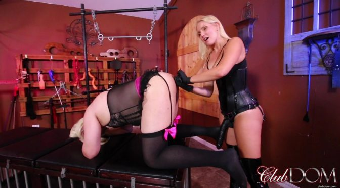 Vanessa Cage in  Clubdom Vanessa Cage Stretches the sissy slave June 15, 2018  BDSM, Sissy Slut