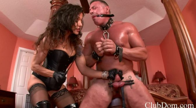 Raven Bay in  Clubdom And She Will Own your Balls January 29, 2014  CBT