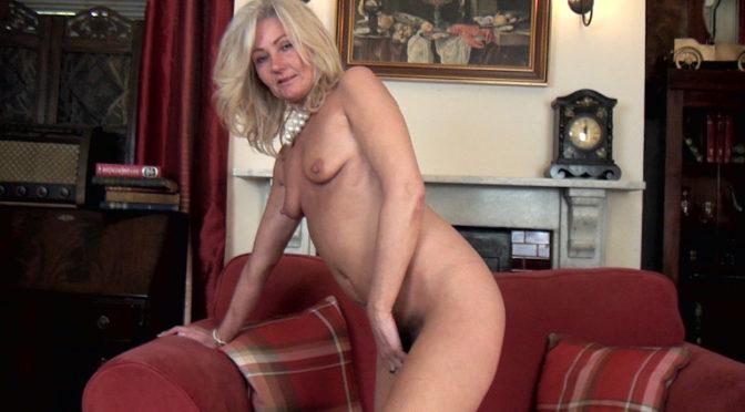 Ellen B in  Wearehairy Ellen B strips naked while in her study June 27, 2017  Striptease, Meaty Lips