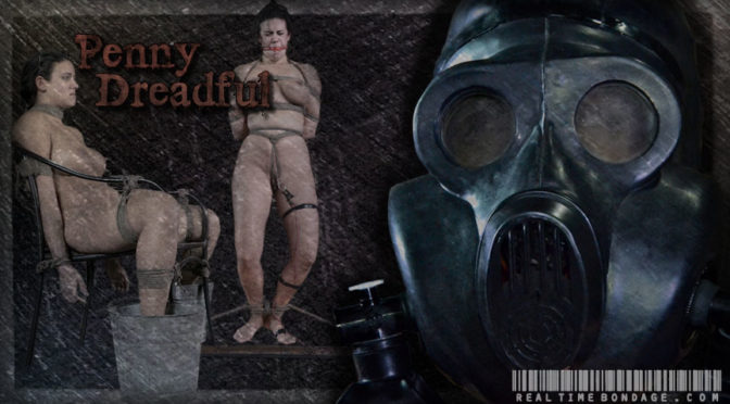 Penny Barber in  Realtimebondage Penny Dreadful Part 3 January 04, 2014  Gagging, Full Face Mask