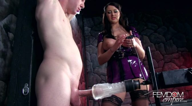 Alexis Grace in  Femdomempire Machine Milked July 14, 2013  Bondage, Milking