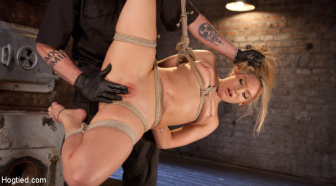AJ Applegate in  Hogtied AJ Applegate Submits To Grueling Bondage and Torment!!! May 05, 2016  The Pope, Bondage