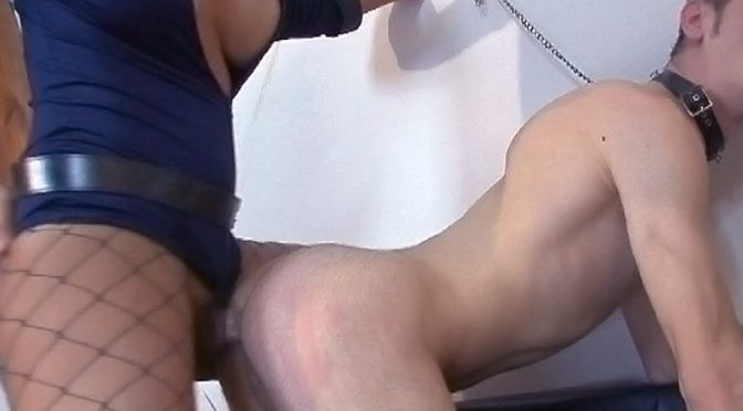 Michelly in  Pinkotgirls The bad cop Transsexual