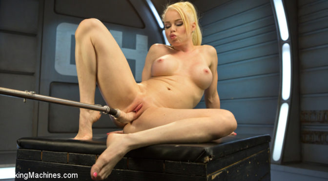 Nikki Delano in  Fuckingmachines Sexy Blonde Babe Gets Machine Fucked for the First Time!! June 01, 2016  Straight, Machine Dildo