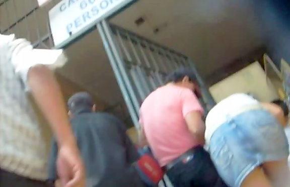 Upskirtcollection Gal in jeans skirt upskirt voyeur video September 23, 2010  Look Up Skirts