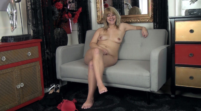 Jodie Dallas in  Wearehairy Jodie Dallas talks naked on her grey couch December 06, 2016  Blondes, Tattoo