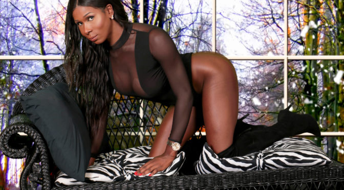 Chloe Cain in  Blacktgirls Sexy Chloe Cain Strokes Her Dick! December 21, 2016  Transsexual
