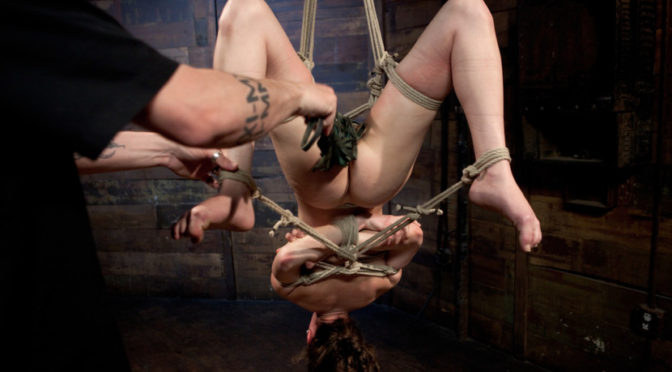 Bonnie Day in  Hogtied Cute red-head tests her masochistic tendencies with JP The Pope June 28, 2012  Suspension, Zipper