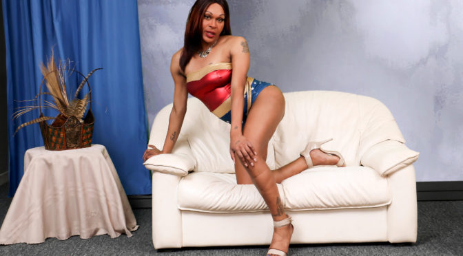 Monica in  Blacktgirls Monica: The Naughty Wonder Woman! April 19, 2017  Transsexual