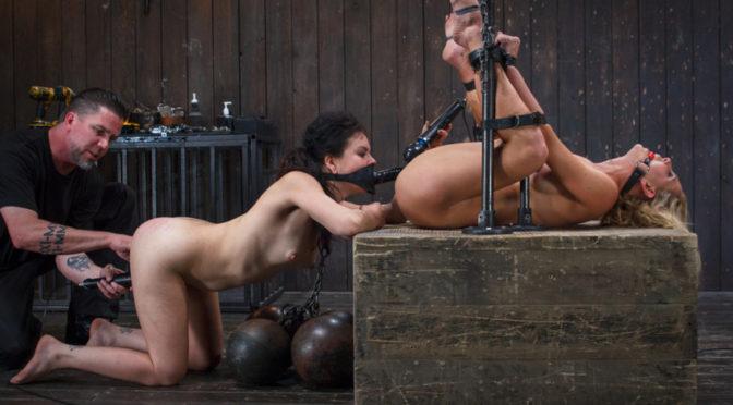 Cherie Deville in  Devicebondage 1 MILF + 1 Pain Slut = 2 Whores Suffering December 27, 2013  Humiliation, Domination