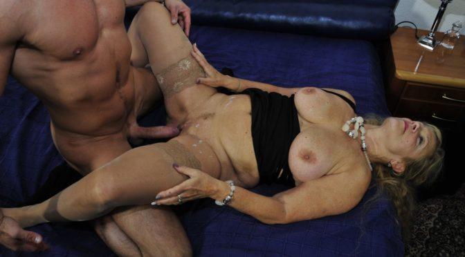Siegbert in  Xxxomas Mature blondie Beate G. gets her pussy pounded hard in German 3some February 28, 2016  Granny Next Door, German Production