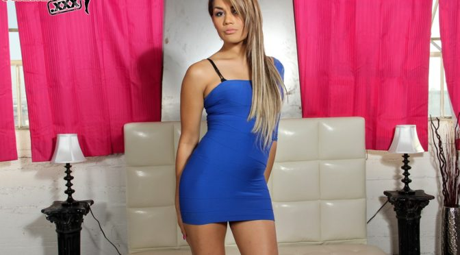 Yazlene Reyes in  Tgirlsxxx Club Hottie Yazlene Reyes Solo December 25, 2012  Transsexual