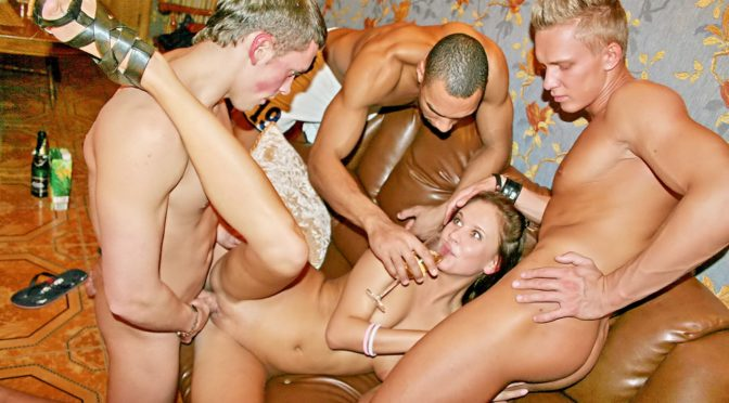Marya Tight in  Collegefuckparties Hot wild girls fuck on a corporate party August 30, 2013  Blonde, Brunette