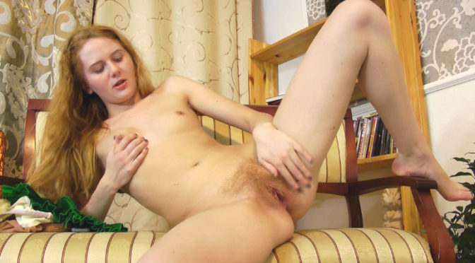 Nicole K in  Wearehairy Nicole K plays with her hairy pussy after sexting December 11, 2011  Slim, Upskirt