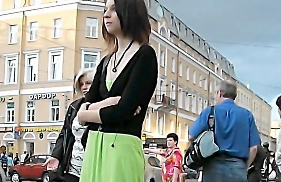 Upskirtcollection Girl wears fishnets up skirt March 22, 2012  Up Skirt