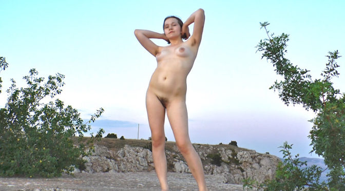 Clarissa in  Wearehairy Clarissa gets naked outdoors in sexy outdoor set October 11, 2014  Hairy Ass, Hairy Legs