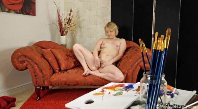 Danniella in  Wearehairy Danniella loves being a hairy girl model June 19, 2013  Blondes, Tattoo