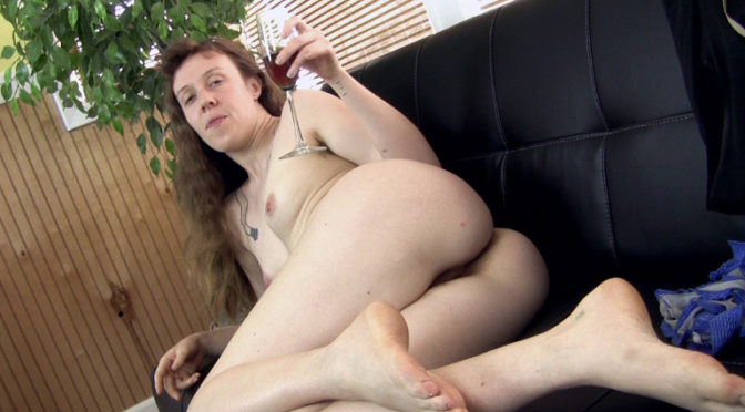 Roxanne in  Wearehairy Roxanne talks hot as she strips naked on her couch July 16, 2016  Hairy Ass, Puffy Nipples