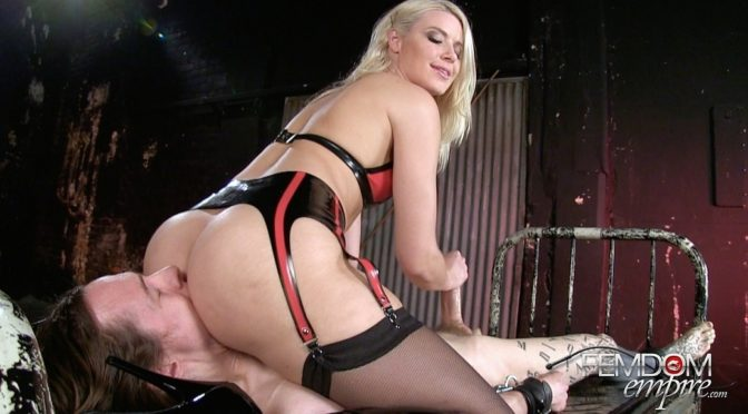 Anikka Albrite in  Femdomempire Imprisoned Sex Slave October 25, 2014  Bondage, Handjobs