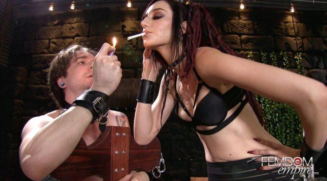 Sablique Von Lux in  Femdomempire Smokers Delight November 01, 2016  Human Ashtray, Humiliation