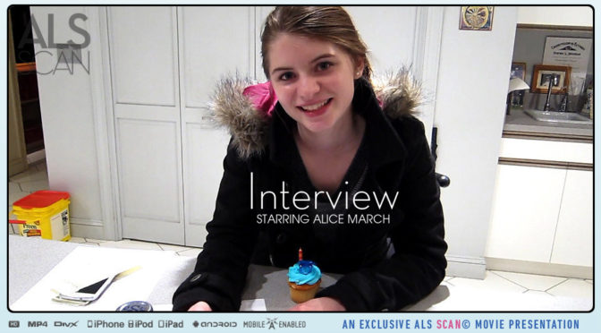 Alice March in  Alsscan Interview October 28, 2016  Candid, Bts