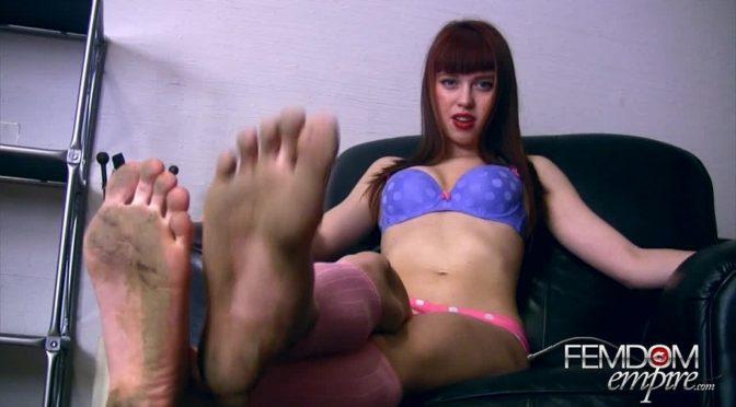 Lara Luxe in  Femdomempire Dirty Foot Pervert POV March 02, 2012  Dirty Feet