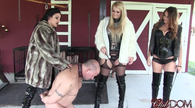 Michelle Lacy in  Clubdom Auction Slave Boot Cleaning March 15, 2016  Boot Worship