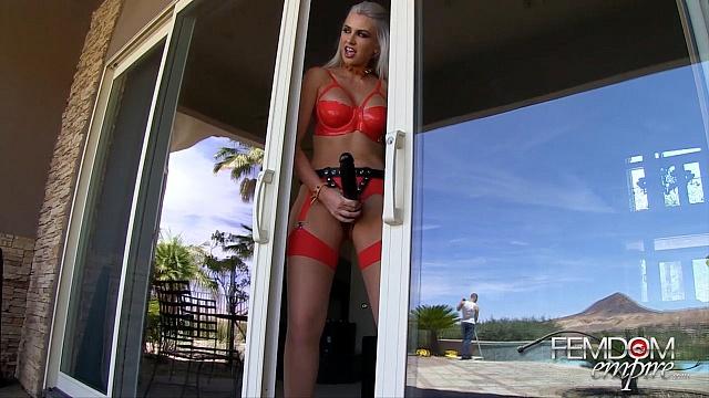 Gigi Allens in  Femdomempire Pegged Pool-boy October 31, 2014  Blonde, Amazon