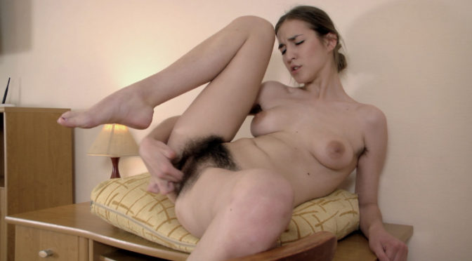 Halmia in  Wearehairy Halmia is nude in office and masturbates there August 10, 2015  Hairy Arms, Upskirt