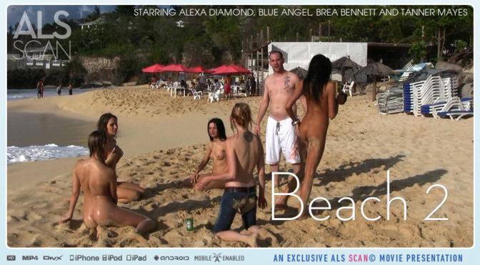 Alexa Diamond in  Alsscan Beach 2 July 07, 2010  Spread, Long Labia