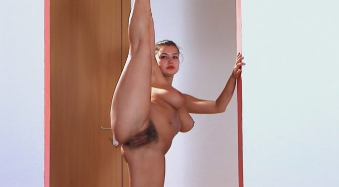 Candy in  Wearehairy Candy likes to stretch whenever she can December 13, 2011  Brunettes, Masturbation