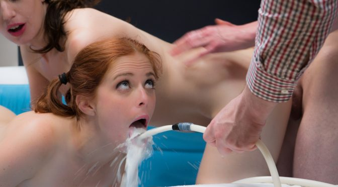 Patients Sarah Shevon And Penny Pax in  Assylum Filth Contest 1 August 03, 2014  Suspension, Asslicking
