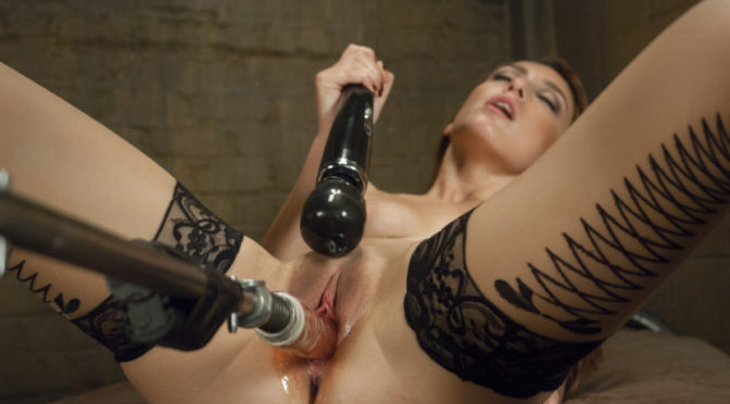 Alexa Raye in  Fuckingmachines Happy Halloween! Sexy Babe in a Haunted House machine fucked to Orgasm October 28, 2014  Vaginal Penetration, Straight