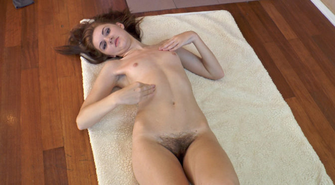 Milana S in  Wearehairy Milana S gets naked and stretches her beautiful body July 18, 2014  Small Breasts, Hairy Nipples