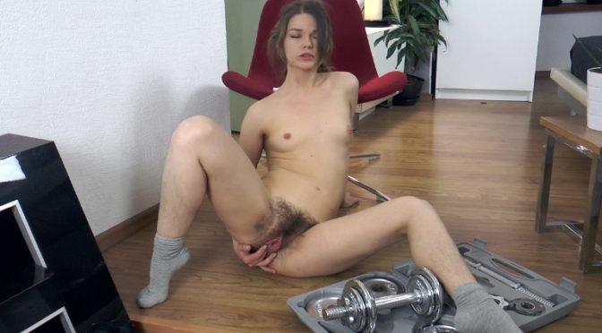 Miranda in  Wearehairy Miranda exercises and then masturbates after that July 03, 2016  Hairy Legs, Meaty Lips