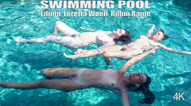 Lilium in  Girlsoutwest Lilium, Loretta Wolf & Robin Raine – Swimming Pool February 24, 2018  Big Boobs, 3 Some/Threesome