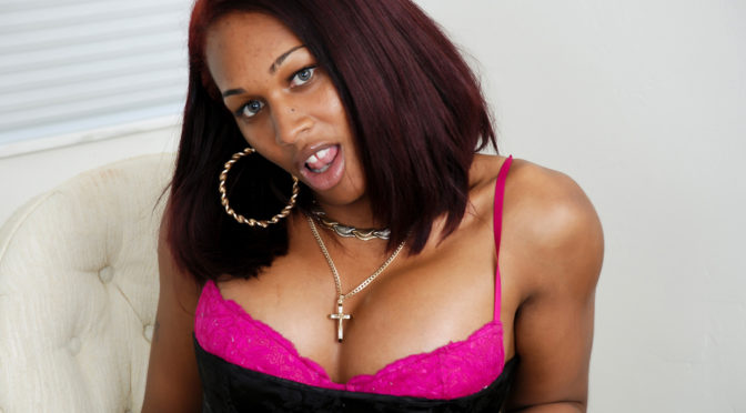 Miss Mink in  Blacktgirls Sexy Miss Mink Strips And Strokes! March 31, 2009  Transsexual