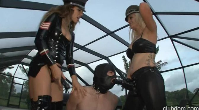 Mistress Rachael in  Clubdom Rachell Strapon Penetrates Slave October 16, 2013  Strapon
