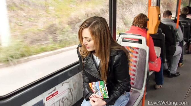 Luca Bella in  Lovewetting Luca Bella – Squirming on the tram October 10, 2016  Desperation