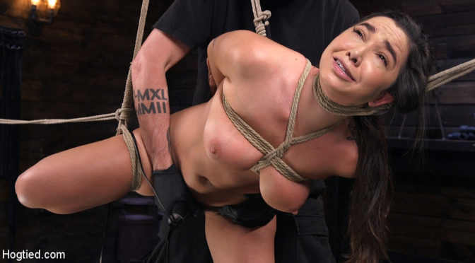 Karlee Grey in  Hogtied Submissive Big Tits in Brutal Bondage and Suffering May 10, 2018  Rope Bondage, Corporal Punishment
