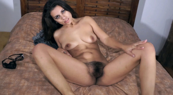 Camille S in  Wearehairy Camille S gets into bed to masturbate and orgasm August 01, 2016  Hairy Arms, Lingerie