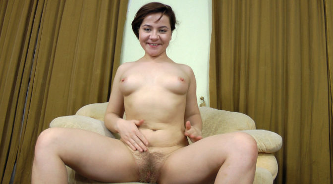 Dominika in  Wearehairy Dominika stretches before her workout April 14, 2012  Masturbation