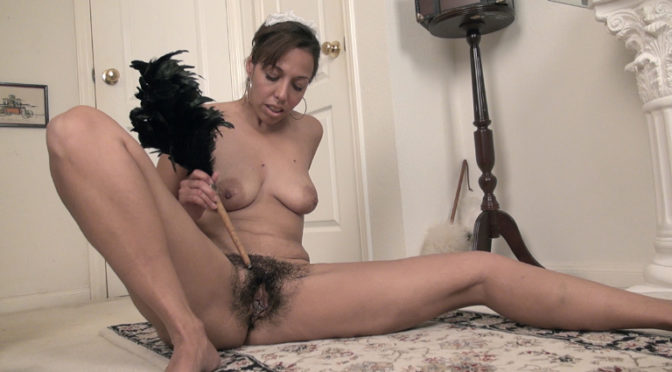 Sophie Moore in  Wearehairy Sophie Moore is a sexy French Maid and strips nude January 23, 2015  Brunettes, Puffy Nipples