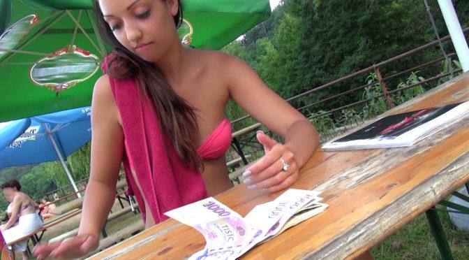 Casey Jordan in  Publicpickups Naughty Cutie Bangs In The Woods June 07, 2015  Voyeur, Squirt
