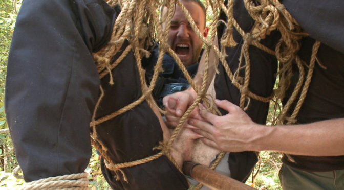 Jimmy Bullet in  Menonedge Officer Bullet – Ass fucked and edged in the middle of the woods September 02, 2014  Male Handler, Gay